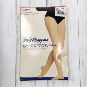 Body Wrappers Black Adult Footed Lycra Tights